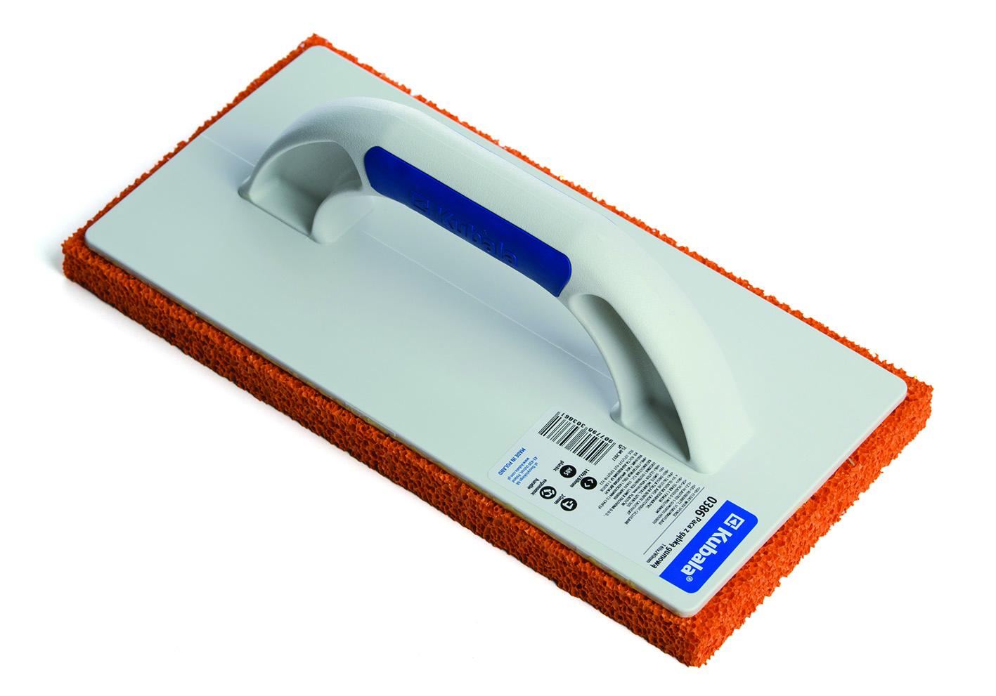 Plastični gleter sa gumenom spužvom i soft drškom, 140x280 mm