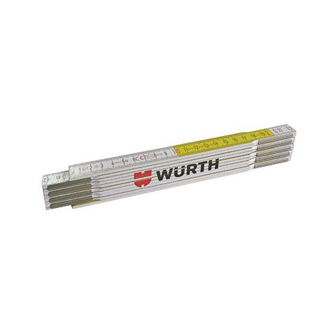 Metar drveni sklopivi 2 m, bijelo-žuti, WURTH