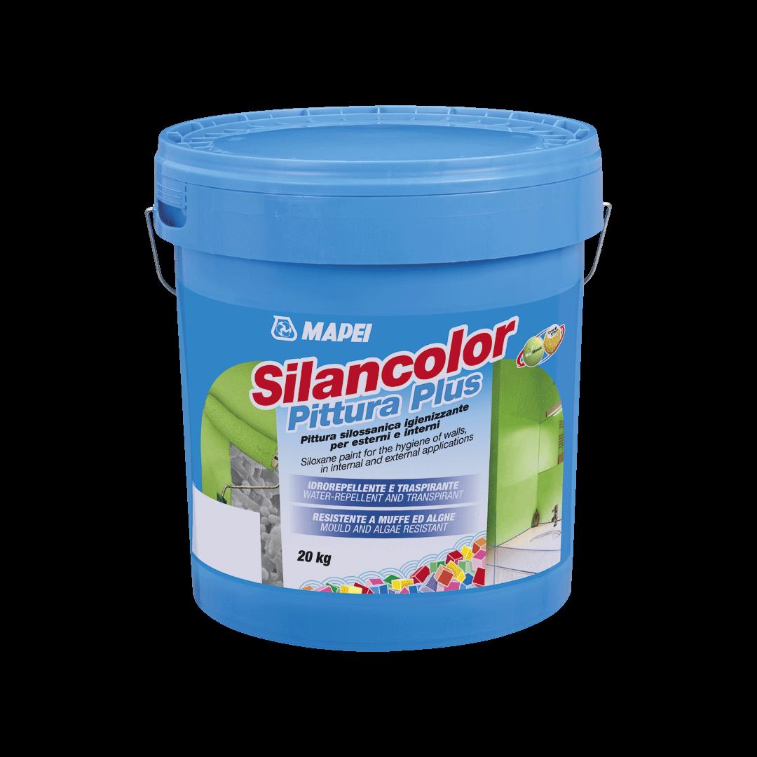 Paropropusna boja otporna na gljivice i plijesni, SILANCOLOR PLUS, bijela, 5 kg, MAPEI