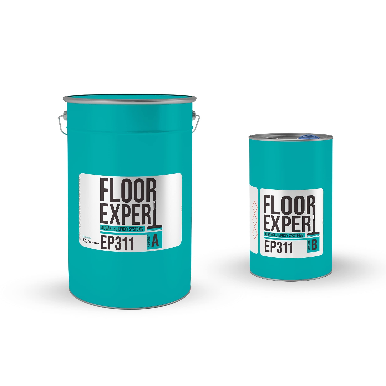 Epoksidni podovi, završni premaz, FLOOR EXPERT EP 311, RAL 7032,  za 85m2