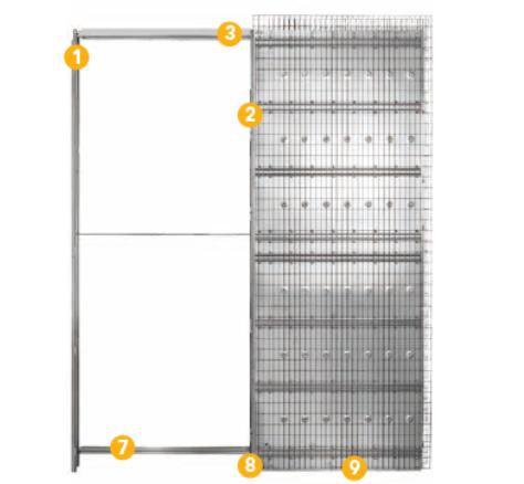 Kazeta za klizna vrata 900x2100mm, jednokrilna za žbuku zid, KDZ 125mm, Eclisse