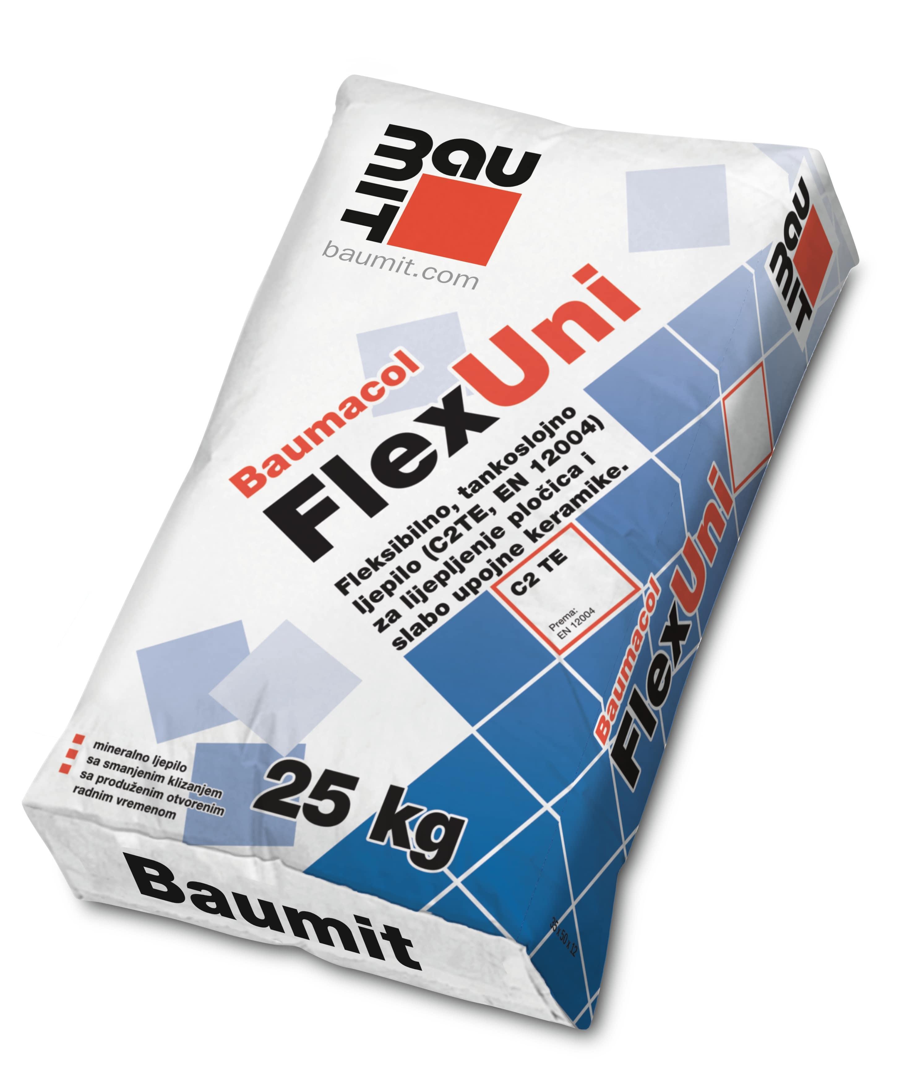 Ljepilo za keramiku, BAUMACOL FLEX UNI, 25 kg, BAUMIT