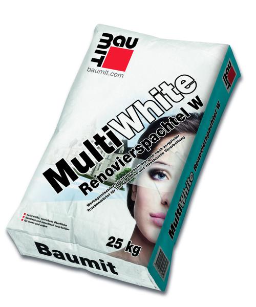 Žbuka za renoviranje i popravke bijele boje, MULTIWHITE, 25KG, BAUMIT