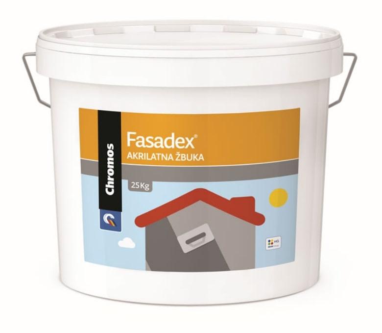 Akrilna fasadna žbuka, FASADEX, bijela, 25 kg, CHROMOS