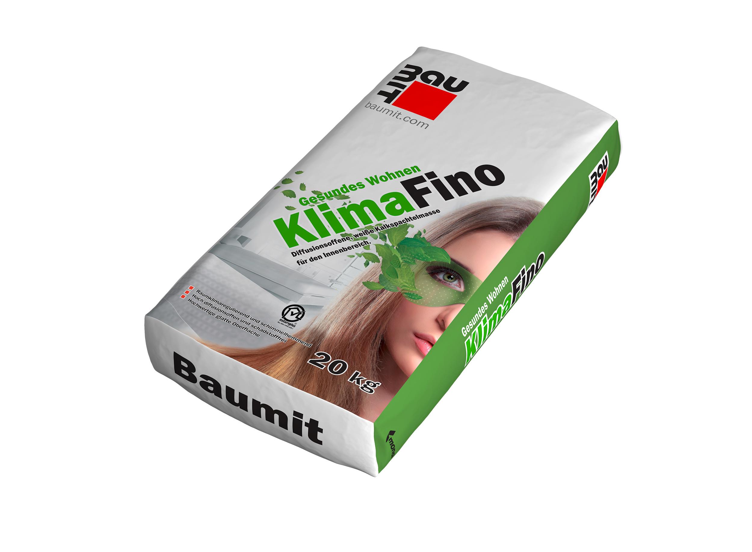 Vapnena masa za zaglađivanje zidova, KLIMAFINO, 20 kg, BAUMIT