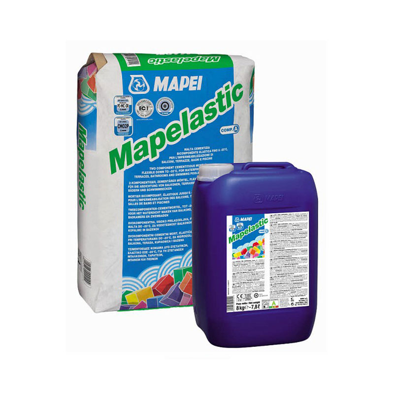 Dvokomponentni cementi mort za hidroizolaciju, MAPELASTIC (24 kg + 8 kg), MAPEI