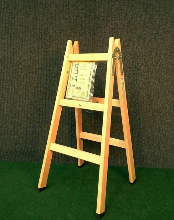 Drvene ljestve s 3 gazišta A3 PROFI, 115 cm, 6 kg