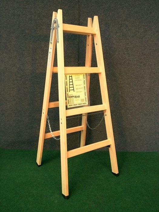 Drvene ljestve s 4 gazišta A4 PROFI, 149 cm, 8 kg