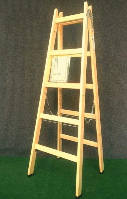 Drvene ljestve s 5 gazišta A5 PROFI, 183 cm, 10 kg