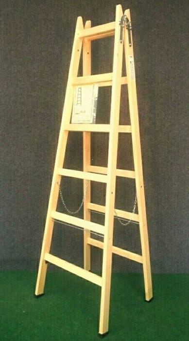 Drvene ljestve s 6 gazišta A6 PROFI, 217 cm, 11,5 kg