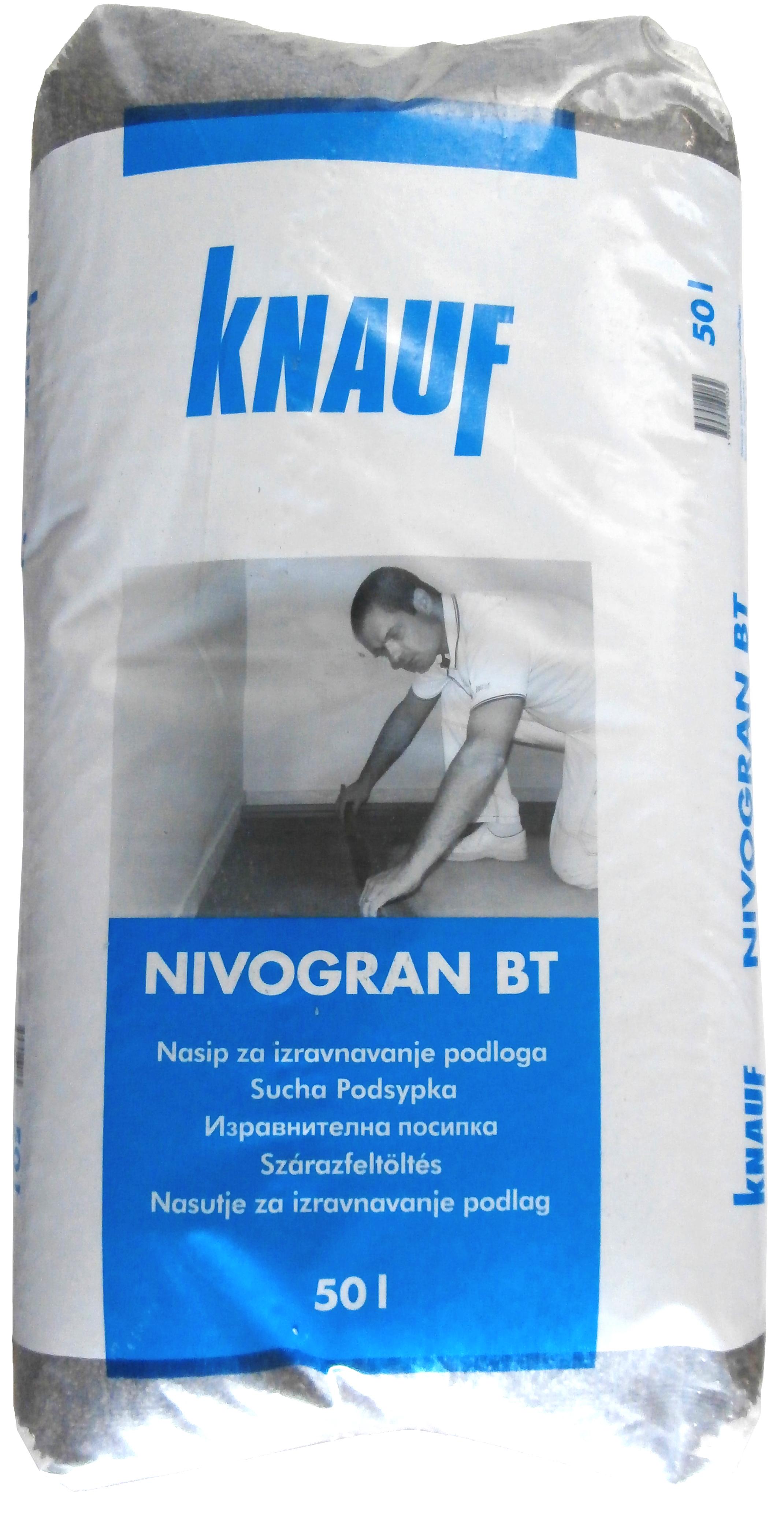 Nasip za izravnavanje podloga, NIVOGRAN, 1-4 mm, 50 l, KNAUF