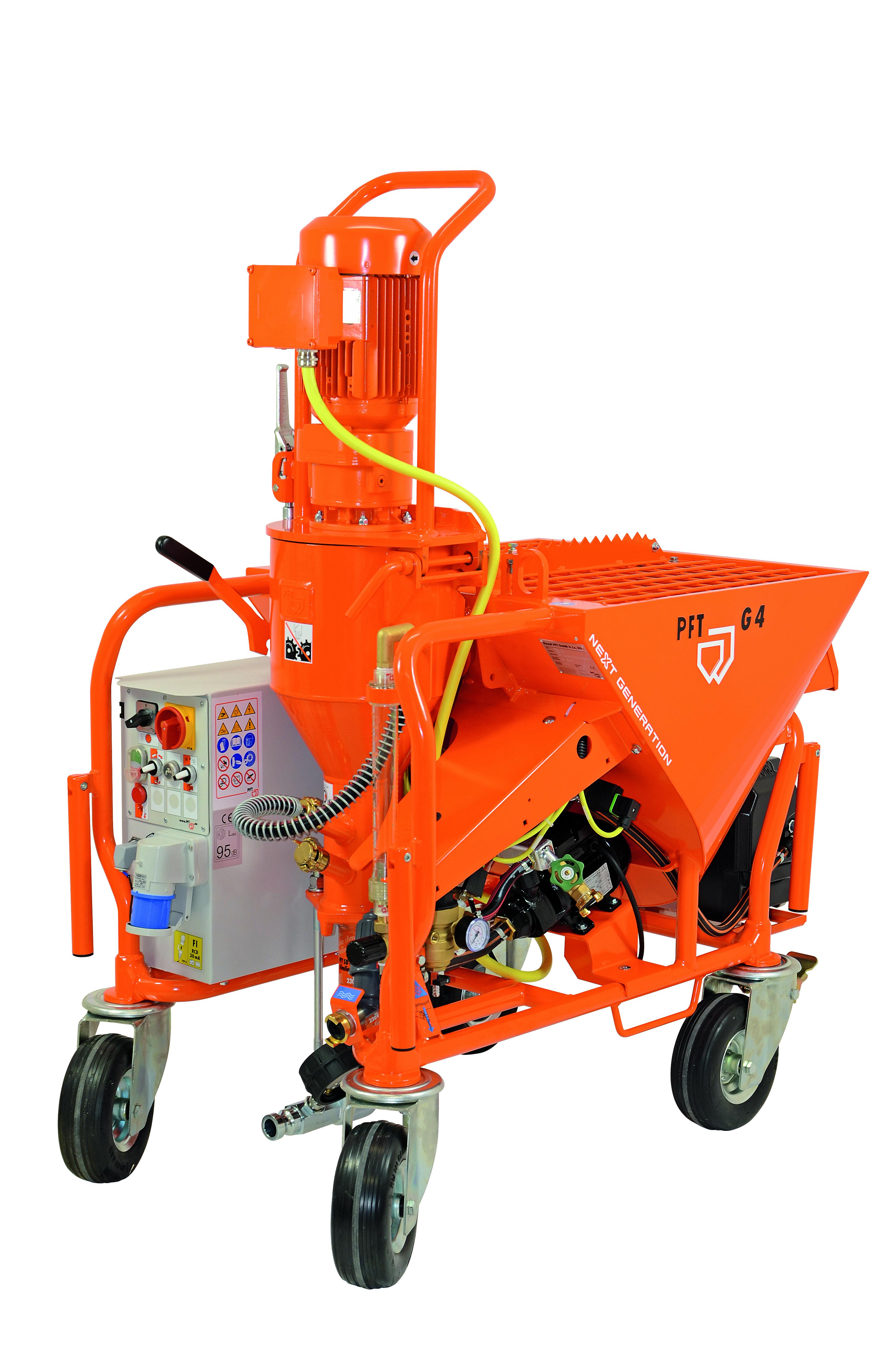 Stroj za žbukanje G4 smart next generation s pumpom za povećanje tlaka, PFT