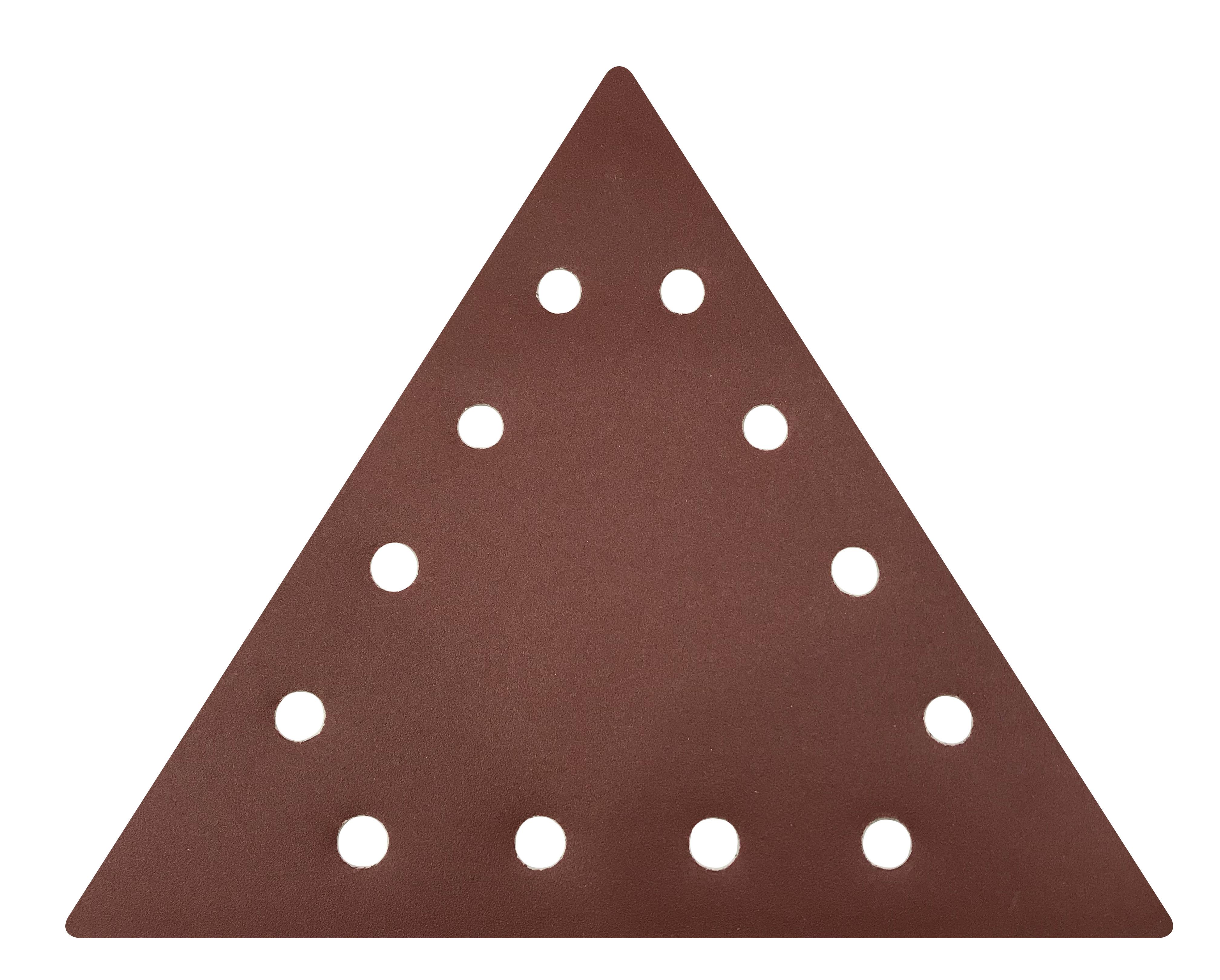 Brusni papir na čičak trokutasti s rupama, granulacija 120, BERG