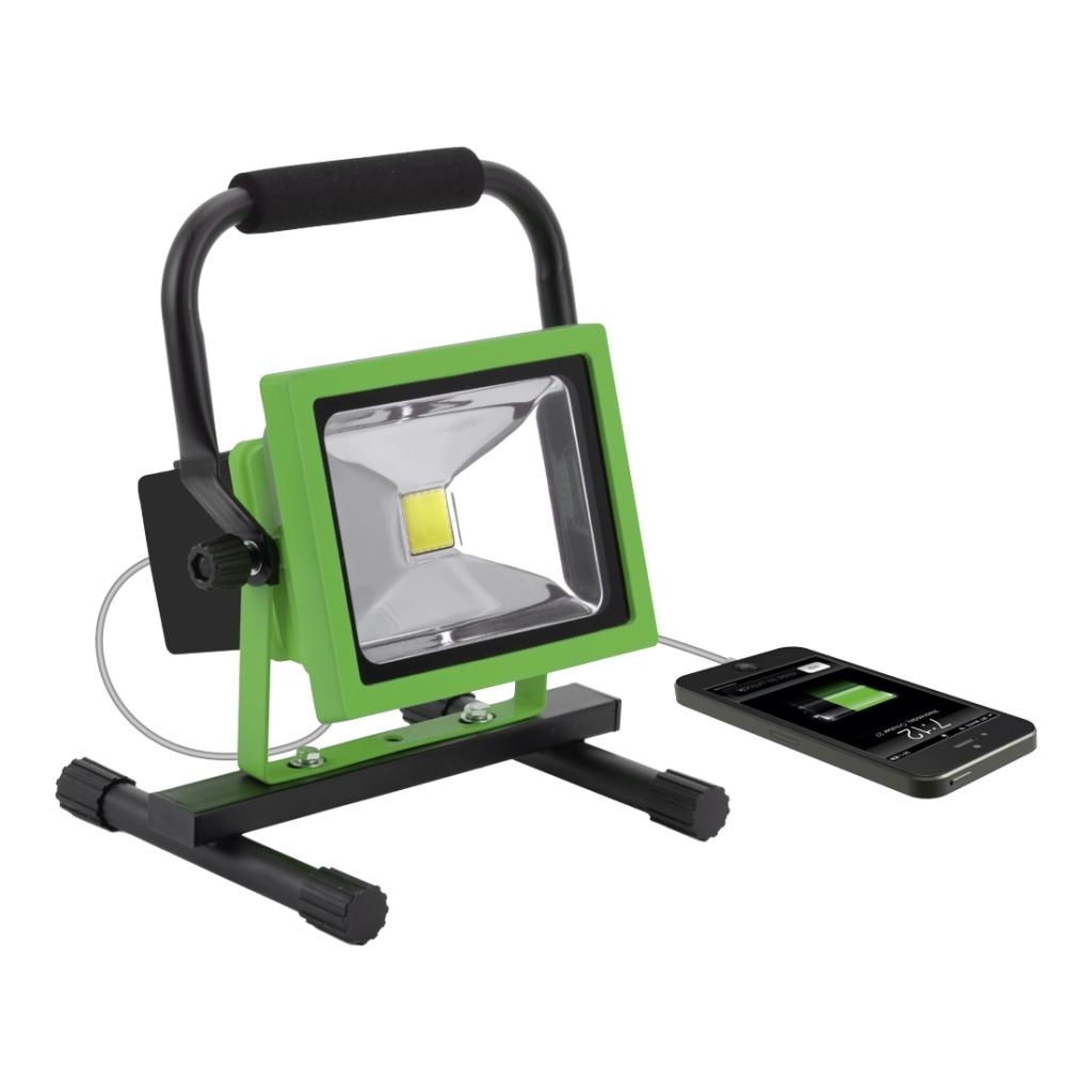 LED reflektor prijenosni i punjivi usb 20 W, BERG
