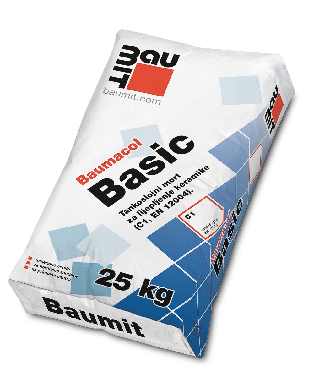 Ljepilo za keramiku, BAUMACOL BASIC, 25 kg, BAUMIT