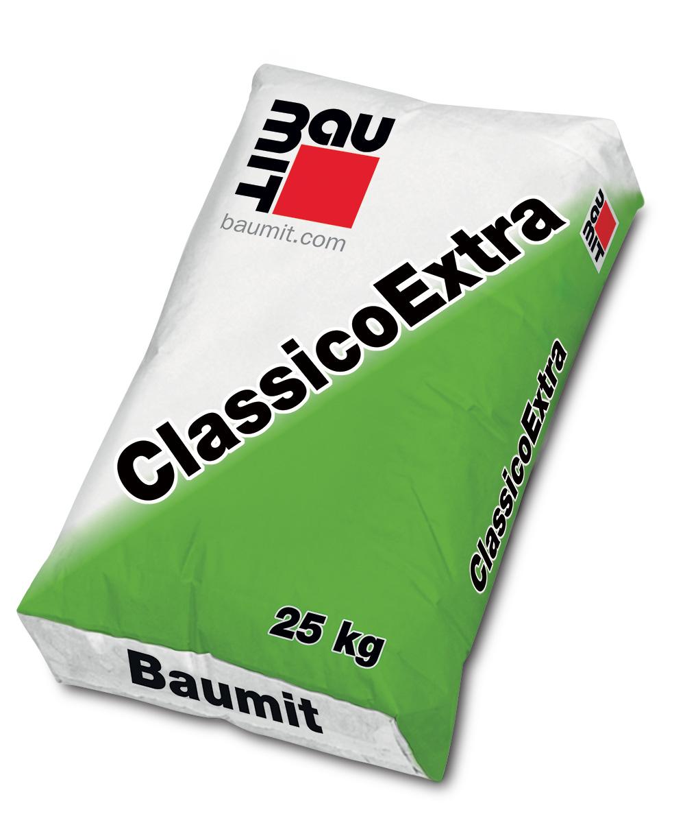 Mineralna tankoslojna žbuka za fasade, CLASSICO EXTRA, 2 mm, 25 kg, BAUMIT