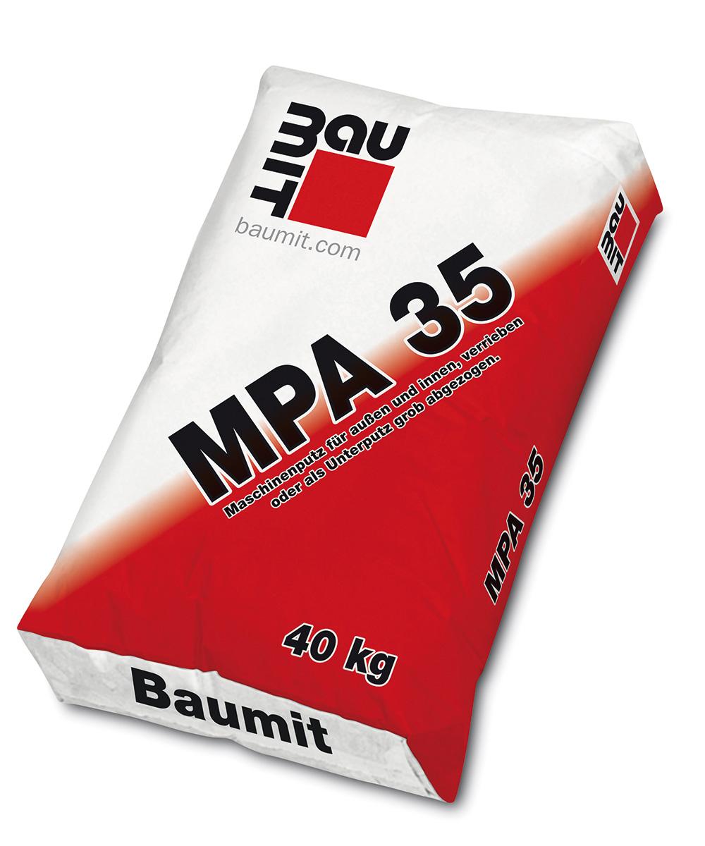 Strojna vapneno-cementna vanjska žbuka, MPA 35, 25 kg, BAUMIT