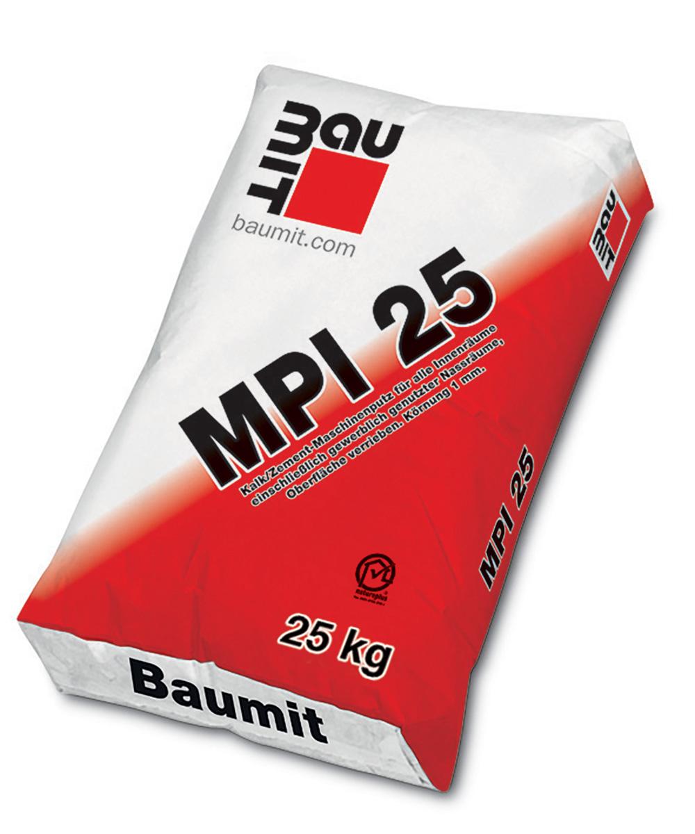 Strojna vapneno-cementna žbuka, MPI 25, 25 kg, BAUMIT