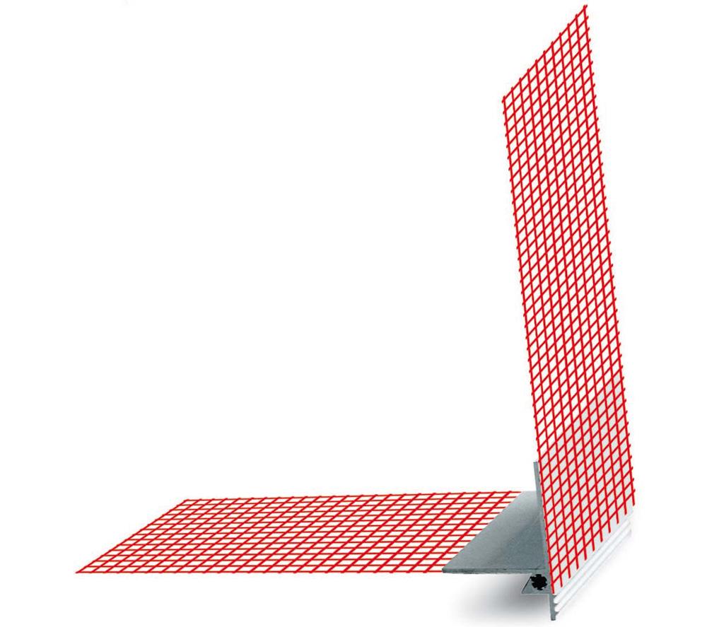 PVC profil okapni, TROPFKANTENPROFIL, 2 m/kom, BAUMIT