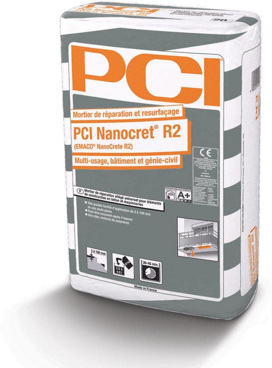Reparaturni brzovežući mort R2 EMACO NANOCRETE, 20 kg, PCI
